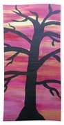 Branching Out Silhouette  Beach Towel