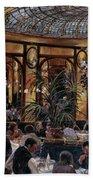 Brasserie Bofinger In The Rue De La Bastille, Paris, 1999 Oil On Canvas Beach Towel