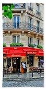 Brasserie De L'isle St. Louis Paris Beach Towel