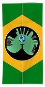 Brazilian Football Field Beach Towel