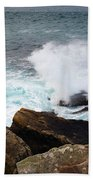 Breakers And Rocks Beach Towel