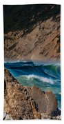 Breakers At Pt Reyes Beach Towel by Bill Gallagher