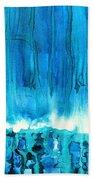 Breakers Off Point Reyes Original Painting Beach Towel