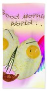 Breakfast Art Beach Towel