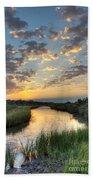 Breaking Dawn Along The Bayou Beach Towel