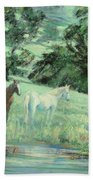 Breathing In Strength Unsaddled Beach Towel