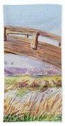 Breezy Day At The Marina Beach Towel by Irina Sztukowski