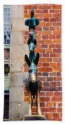 Bremen Musicians Statue Beach Towel
