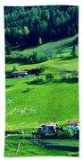 Brenner Pass Greenery Beach Towel