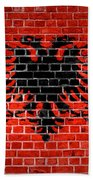 Brick Wall Albania Beach Towel