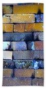 Brick Wall Of A Pottery Kiln Beach Towel