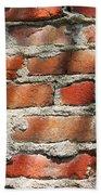 Brick Wall Shadows Beach Towel