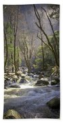 Bridalveil Falls Feeds A Marvelous Stream Beach Towel