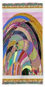 Bride In Layers Of Veils Accidental Discovery From Graphic Abstracts Made From Crystal Healing Stone Beach Towel