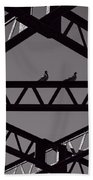 Bridge Abstract Beach Towel