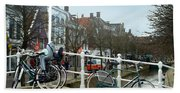 Bridge Across Canal - Amsterdam Beach Towel