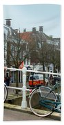Bridge Across Canal - Amsterdam Beach Towel