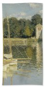 Bridge At Argenteuil Beach Towel