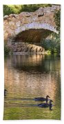 Bridge At Stow Lake Beach Towel