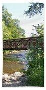 Bridge At Waubonsie Creek Beach Towel