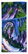 Bridge At Wiesen Beach Towel