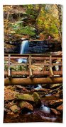 Bridge By B Reynolds Falls Beach Towel