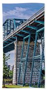 Bridge From The Park Beach Towel