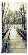 Bridge In The Wood Beach Towel