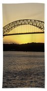 Bridge Of The Americas Panama Beach Towel