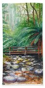 Bridge Over Badger Creek Beach Towel