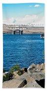 Bridge Over Columbia River At Umatilla-or  Beach Towel