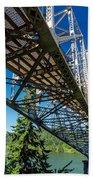 Bridge Over Columbia River Beach Towel