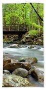 Bridge Over Little Pigeon River Beach Towel