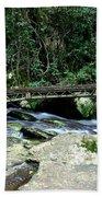 Bridge Over Mountain Stream Beach Towel