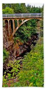 Bridge Over North Harbour River-nl Beach Towel