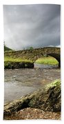 Bridge Over River, Scotland Beach Towel
