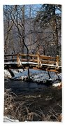 Bridge Over Snowy Valley Creek Beach Towel