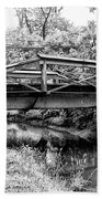 Bridge Over The Delaware Canal At Washington's Crossing Beach Towel