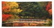 Bridge To Autumn Beach Towel