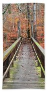 Bridge To Fall Beach Towel