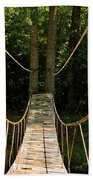 Bridge To The Forest Beach Towel
