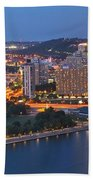 Bridge To The Pittsburgh Skyline Beach Towel