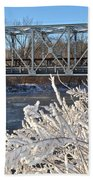Bridge To Winter Beach Towel