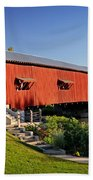 Bridgeton Covered Bridge 3 Beach Towel