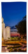 Brigham City Temple Twilight 1 Beach Towel