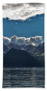 Bright And Cloudy Beach Towel