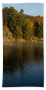 Bright And Sunny Autumn Reflections Beach Towel