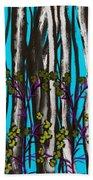 Bright Blue And Birch Beach Towel