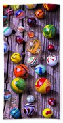Bright Colorful Marbles Beach Towel