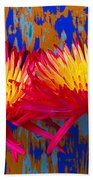 Bright Colorful Mums Beach Towel